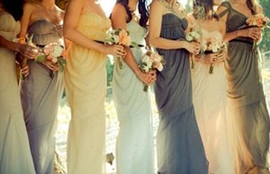 springthemed bridesmaids dresses arabia weddings