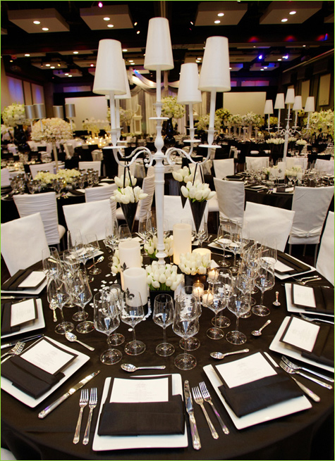 A Great Black And White Wedding Theme