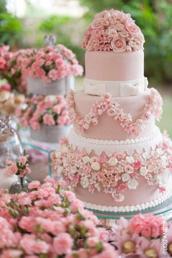 Pink And Purple Colored Wedding Cakes Arabia Weddings