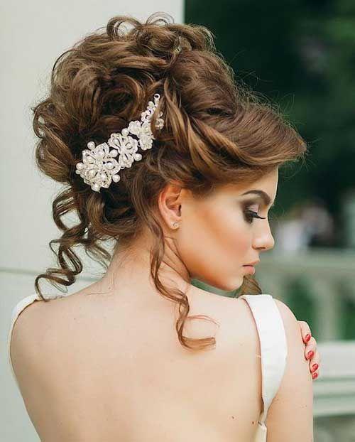 Fancy Bridal Hairstyles Arabia Weddings
