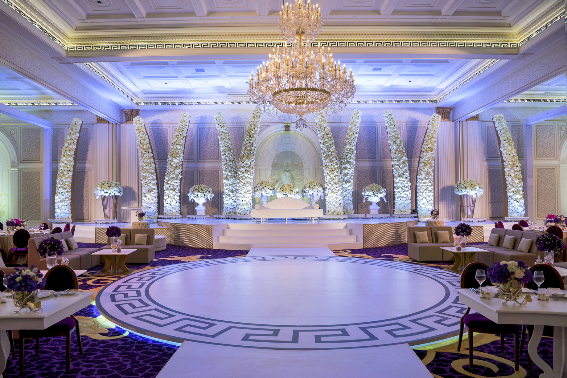 4148dc14ffec A Purple Wedding for Mashael Al Hammadi by Event Chic Designs ...