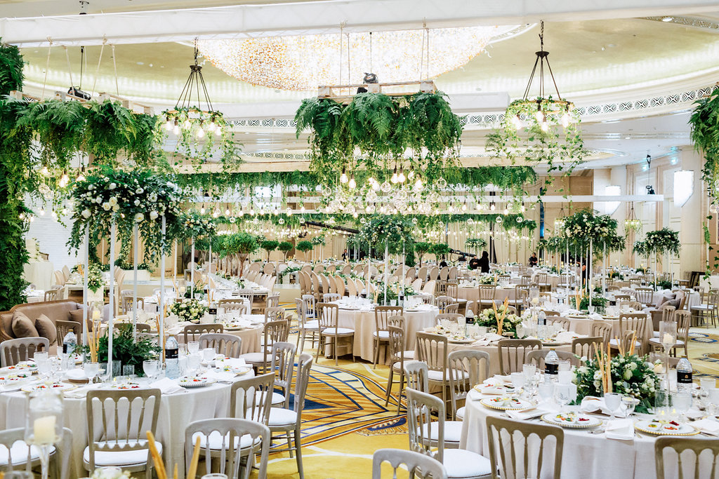 An Indoor Rich Garden Wedding By The Purple Chair