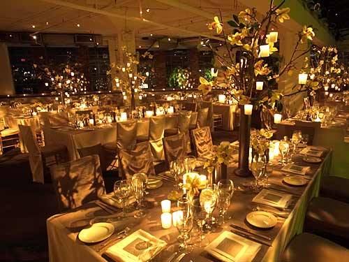 Gold Winter Wedding Decorations
