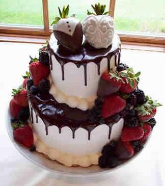 Blue And Black Wedding Cakes