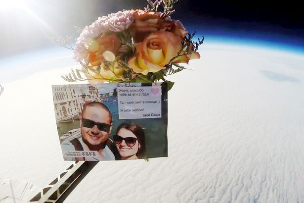 Man Celebrates Wedding Anniversary By Sending Flowers Into Space