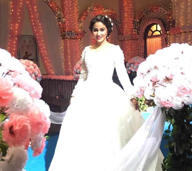 Hina Khan In Wedding Dress Arabia Weddings
