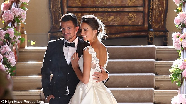 Peter Andre Celebrates First Wedding Anniversary