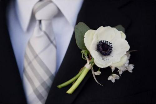 Black and White Groom Outfit
