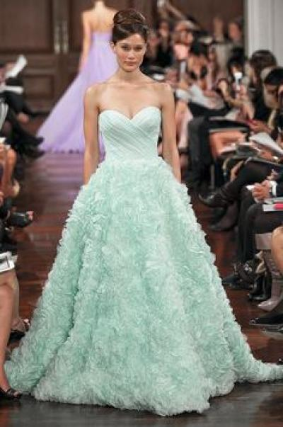 Mint Green Wedding Dresses for Summer 2014 - Arabia Weddings