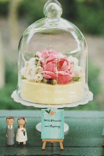 Cake in Bell Jars