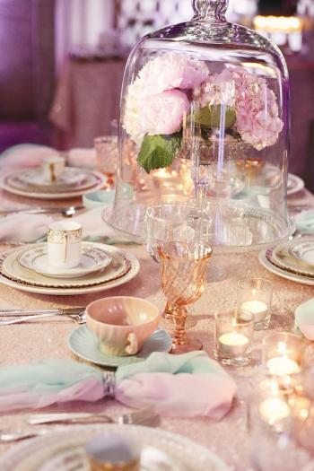 Glass bell jar wedding