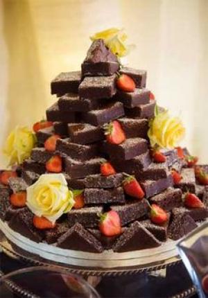 brownie_wedding_tower