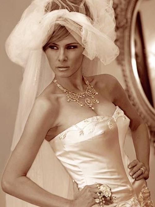 Wedding Dress Inspiration From Melania Knauss Trump