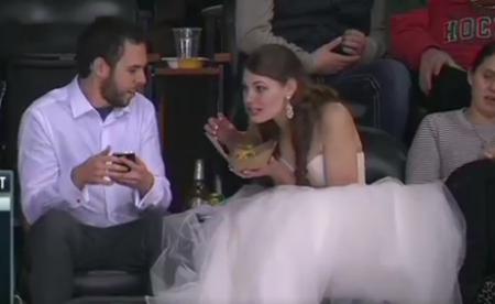 bride_at_hockey_game