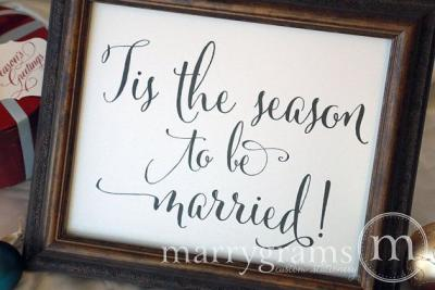 tis_the_season_wedding_sign