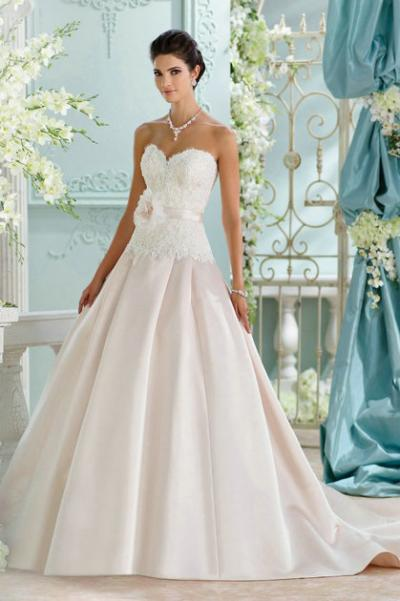 David Tutera's wedding gown at Bridal Showroom