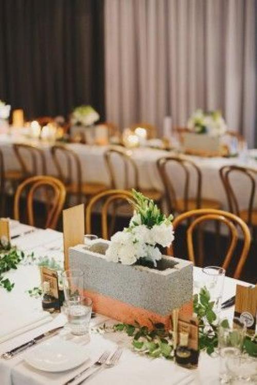 Unique Wedding Reception Ideas 24 Luxury Concrete Wedding Centerpieces concrete