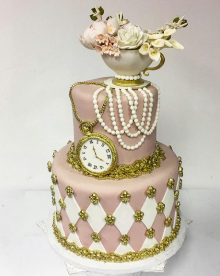 Luxury Bridal Shower Cake by Zehra done for Amanda's Alice in Wonderland bridal shower party