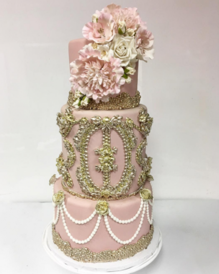 Luxury Bridal Shower Cake by Zehra done for Elena