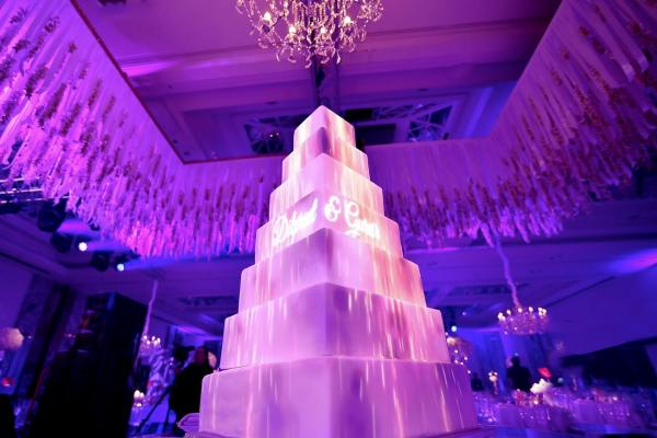 projection on wedding cakes