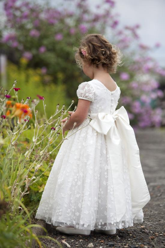 Flowergirl dress by Nicki Macfarlane