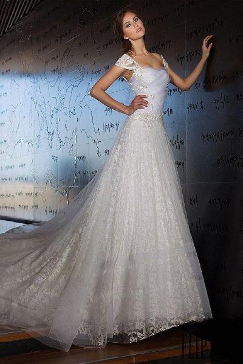Capped Sleeve Wedding Dress 79 Nice abed mahfouz bridal