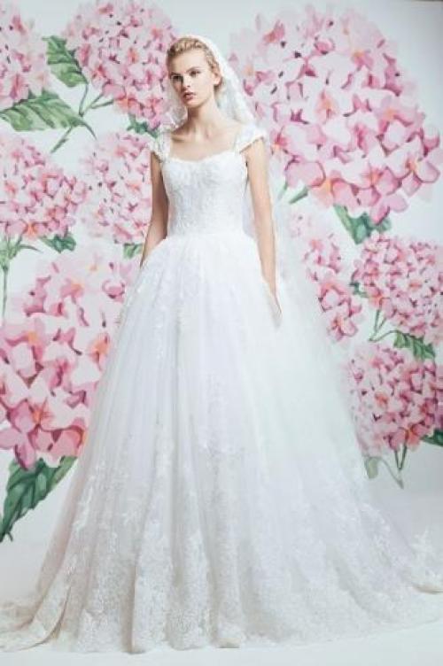 Capped Sleeve Wedding Dress 82 Vintage Georges Hobeika