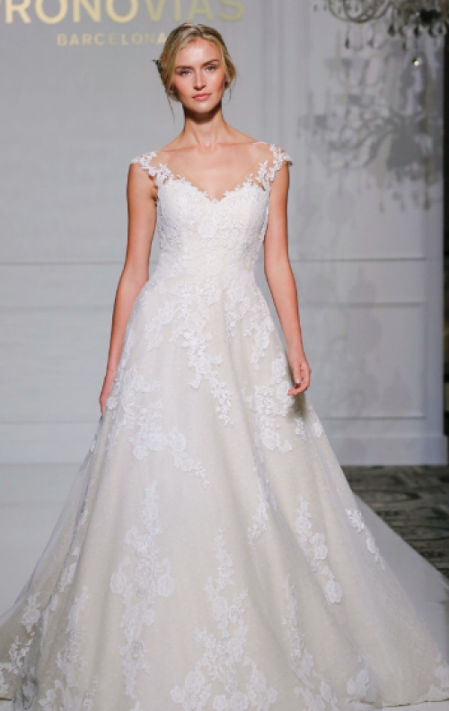 Capped Sleeve Wedding Dress 84 Marvelous pronovias fall bridal collection