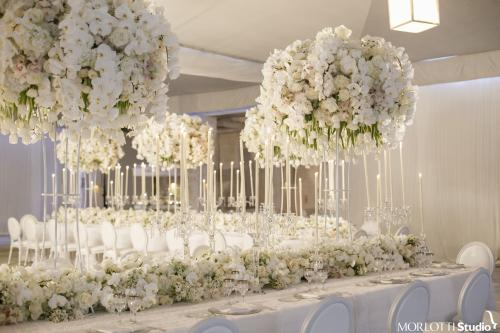 Beautiful Table Flower Runners for Dubai Wedding