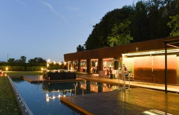 Gala Dinner at Pool Area in Miramar Barcalona