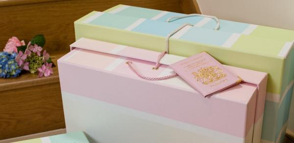Travel boxes for wedding dresses