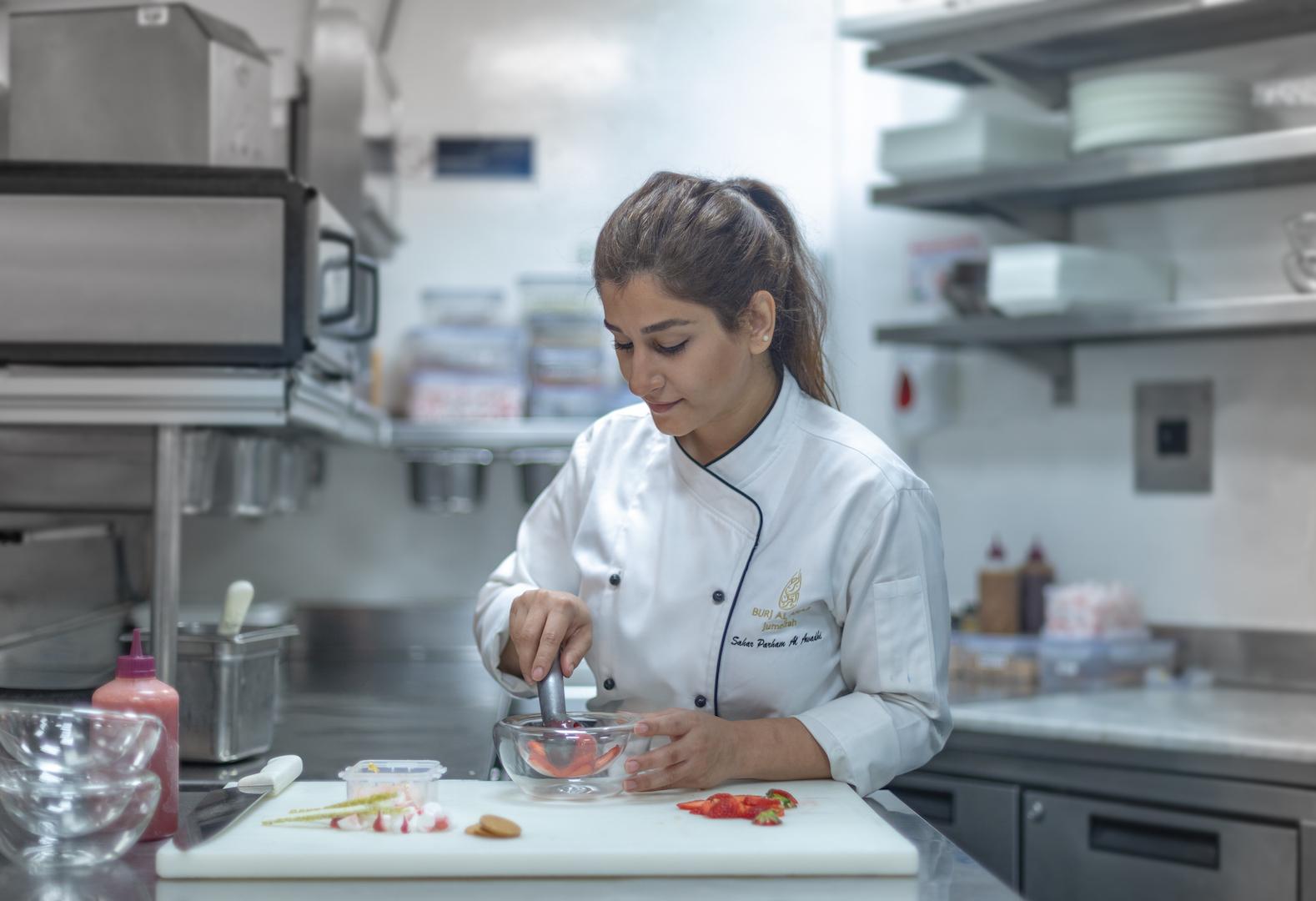 Chef Sahar at Burj Al Arab
