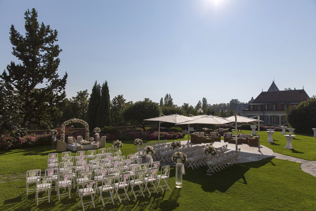 Wedding Ceremony at Beau-rivage Palace