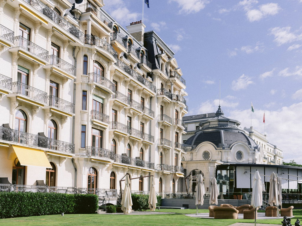 Wedding venue in Lake Geneva - Exterior of Beau-Rivage Palace