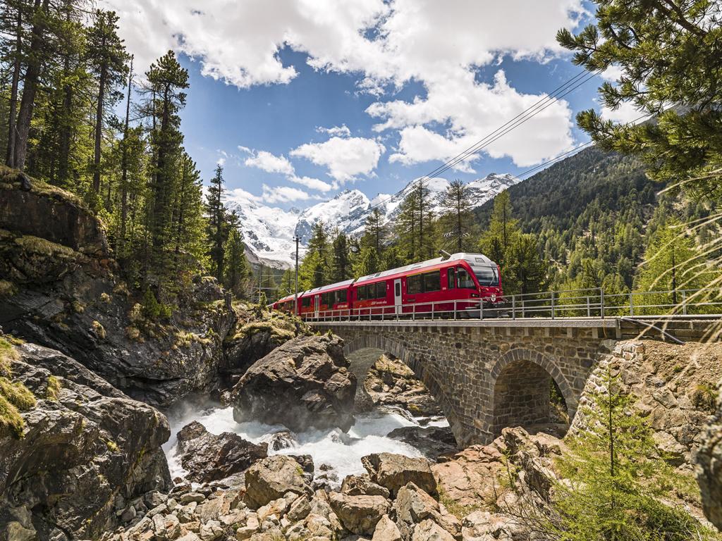 Bernina train - panoramic experience in Switzerland