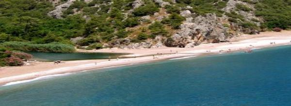 Olympos Beach in Turkey