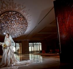 Bride in foyer of JRCC