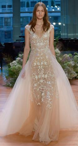 Monique Lhuillier 2017 Fall Bridal Collection at New York International Bridal Week