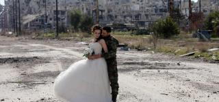 Wedding Pictures Amid Syria's Wreckage