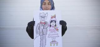 طفلة سورية تطلق حملة ضد الزواج المبكر للسوريات