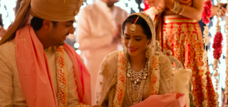 Indian Bride Embroidered Her Love Story Onto Her Wedding Dress