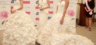 مسابقة لتصميم فساتين زفاف من مناديل الحمام الورقية