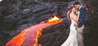 بالصور: أجرأ جلسة تصوير زفاف لهذا العام