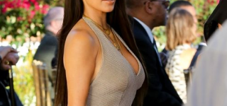 Kim Kardashian and Kanye West Attend Wedding