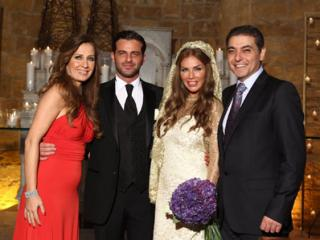 Nicole Saba and Yusuf Al-Khal After Wedding Ceremony