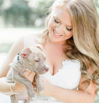 Bride Chooses Puppies Instead of Flower Bouquets