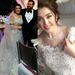 الصور الأولى من حفل زفاف كندة علوش وعمرو يوسف