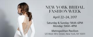 New York Bridal Week Spring 2017 To Kick Off On 22 April