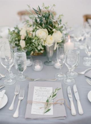 A Delicate Dove Grey Wedding Theme