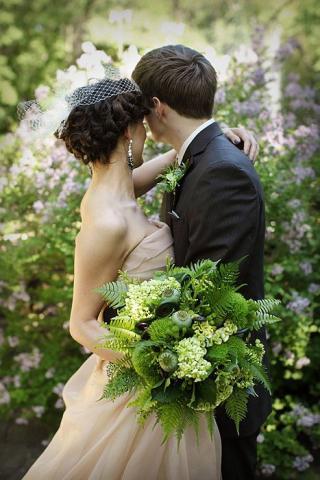 Fresh Greenery Bridal Bouquets
